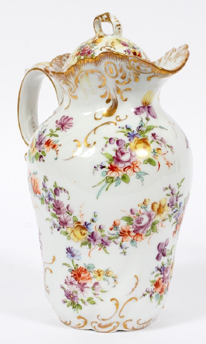 DRESDEN PORCELAIN CHOCOLATE POT