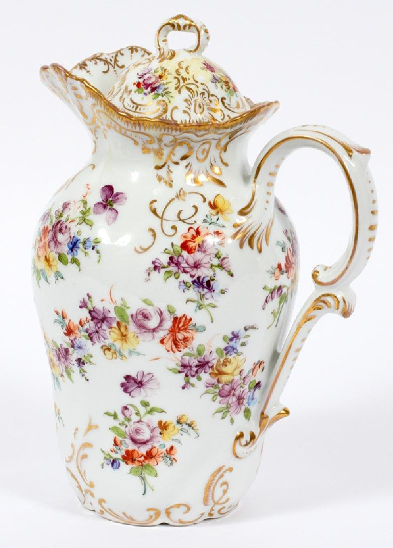 DRESDEN PORCELAIN CHOCOLATE POT - 2
