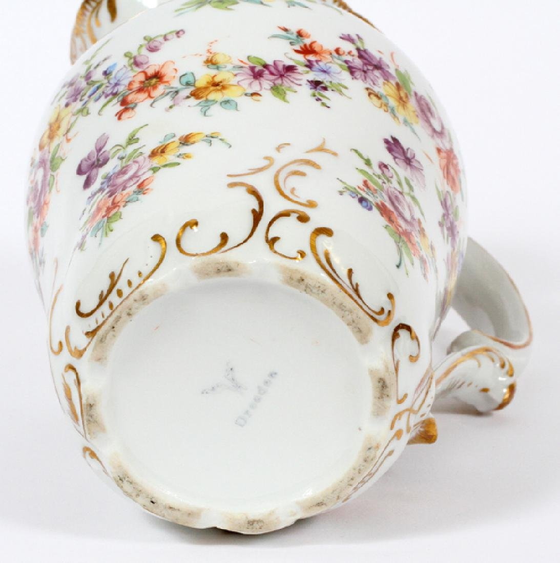 DRESDEN PORCELAIN CHOCOLATE POT - 3