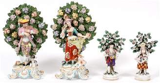 CHELSEA ENGLISH PORCELAIN MALE  FEMALE FIGURINES