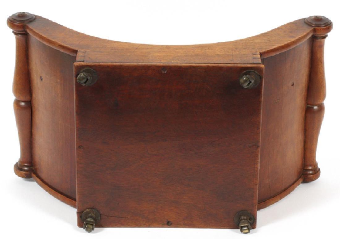 REGENCY MAHOGANY CHEESE WHEEL HOLDER C 1840 - 3