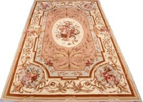 FRENCH AUBUSSON STYLE WOOL NEEDLEPOINT CARPET