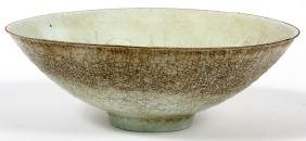 CHINESE EGG SHELL PORCELAIN FOOTED BOWL