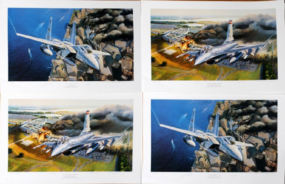 RICK HERTER ARTIST PROOF FIGHTER JETS