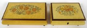 REUGE ITALIAN INLAID MUSIC AND JEWELRY BOXES TWO