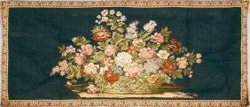 FLORAL BOUQUET CENTER PIECE LOOMED TAPESTRY