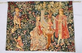 ELIZABETHAN STYLE HAND LOOMED TAPESTRY