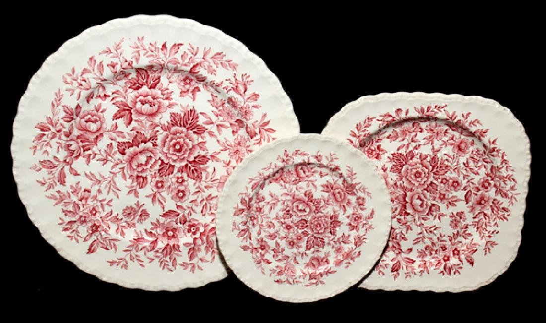 GRINDLEY ENGLAND PRINTEMPS PORCELAIN PLATES 14 PCS.