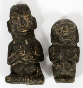 PRE-COLUMBIAN STYLE CARVED FIGURES TWO