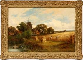 HENRY H. PARKER OIL ON CANVAS LATE 19TH CENTURY
