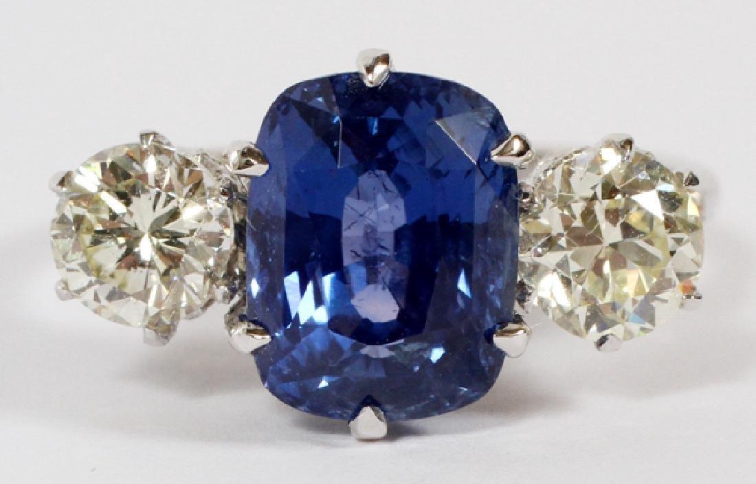 5CT BLUE SAPPHIRE AND DIAMOND RING