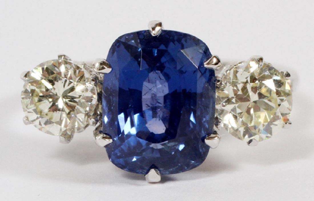 5CT BLUE SAPPHIRE AND DIAMOND RING