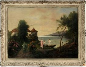 SIGNED OIL ON CANVAS 19TH.C.