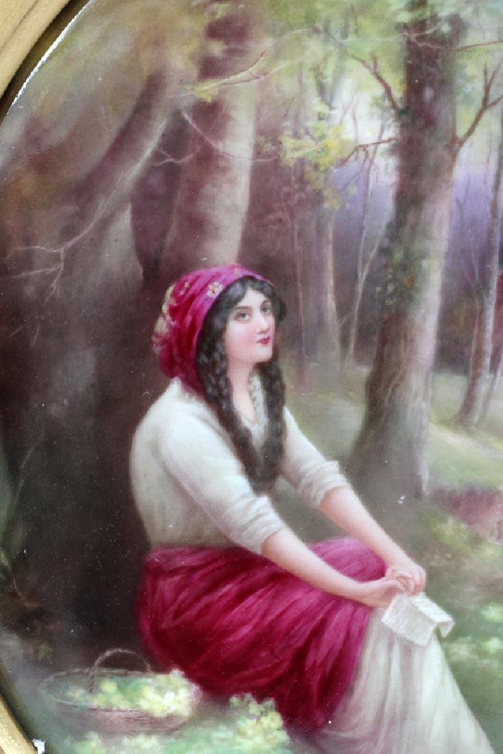 LESLIE JOHNSON BY ROYAL DOULTON PORCELAIN PLAQUE - 2