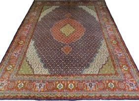 PERSIAN TABRIZ VERY FINE SILK AND WOOL CARPET