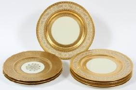 HEINRICH & CO. CHARGER PLATES 8