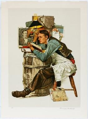 AFTER NORMAN PERCEVAL ROCKWELL COLOR LITHOGRAPH