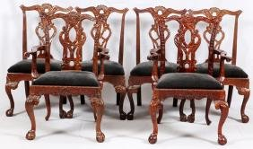 HENREDON CHIPPENDALE STYLE MAHOGANY DINING CHAIRS