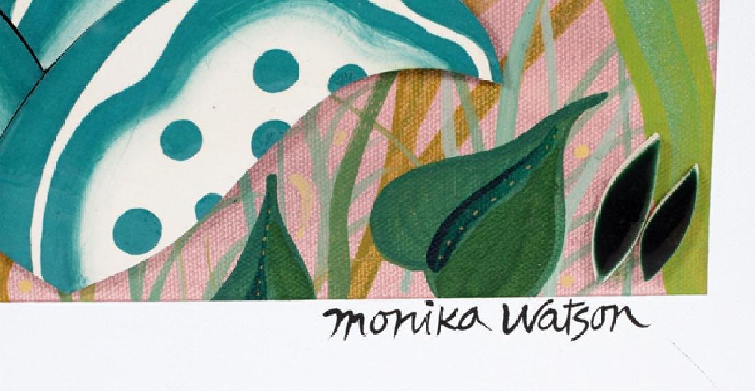 MONIKA WATSON MIXED MEDIA W/ COLLAGE ON CANVAS 1997 - 2