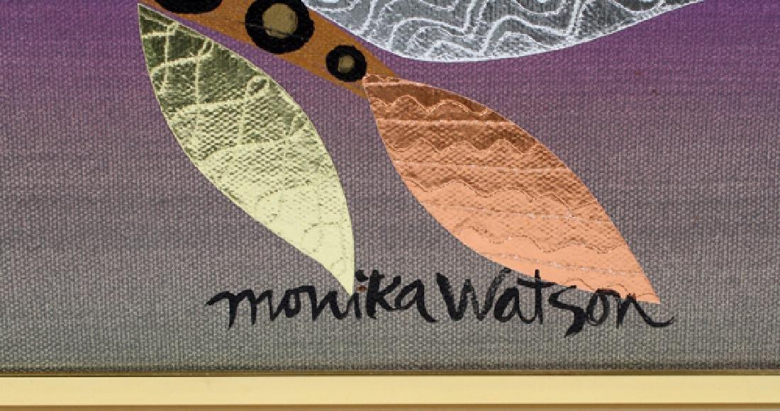 MONIKA WATSON MIXED MEDIA W/ COLLAGE ON CANVAS 2001 - 2