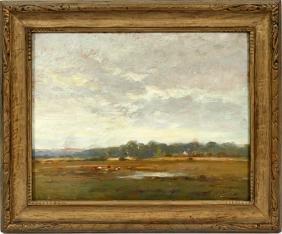 JOSEPH W. GIES OIL ON BOARD C. EARLY 20TH C.