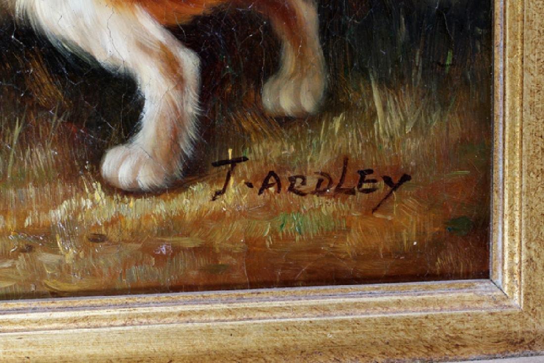 J. ARDLEY OILS ON CANVAS PAIR - 4