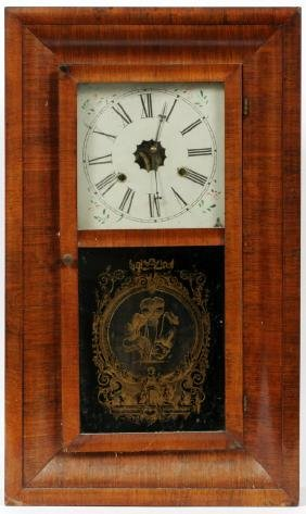 WELCH MFG. CO. THIRTY-HOUR WALL CLOCK 19TH C.