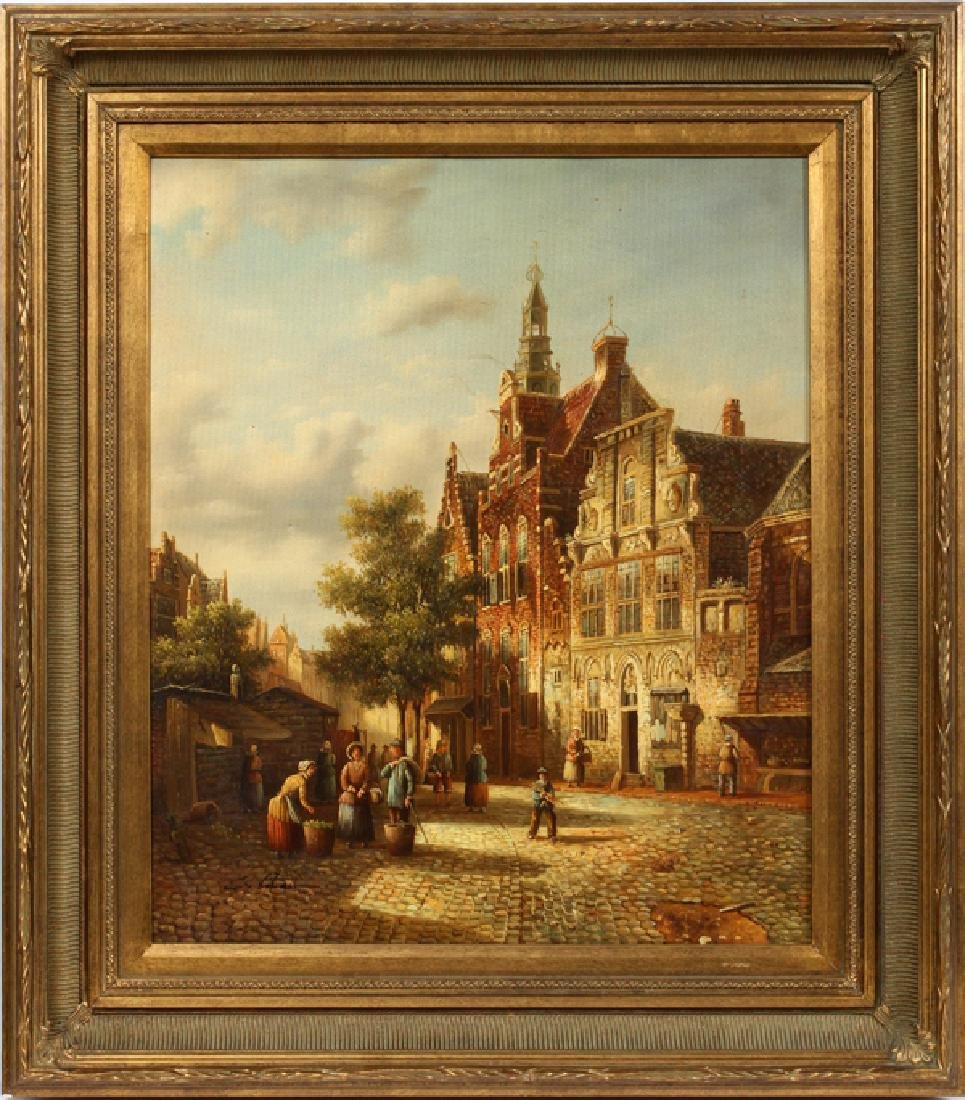 C. LAZAIT DUTCH CONTEMPORARY OIL ON CANVAS