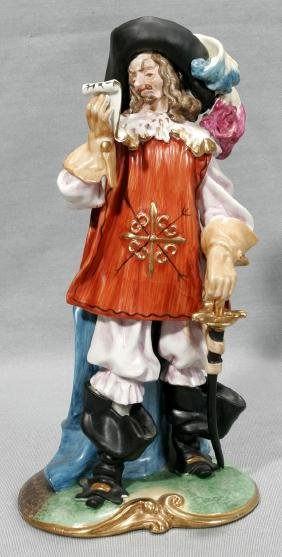 CAPODIMONTE PORCELAIN MUSKETEER ATHOS