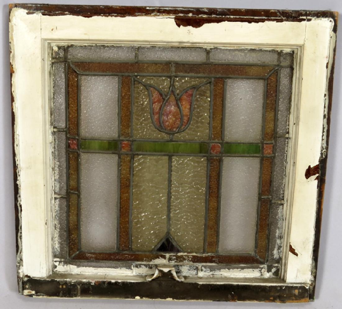 LEADED GLASS WINDOWS C 1910 LOT OF THREE 31 - 2