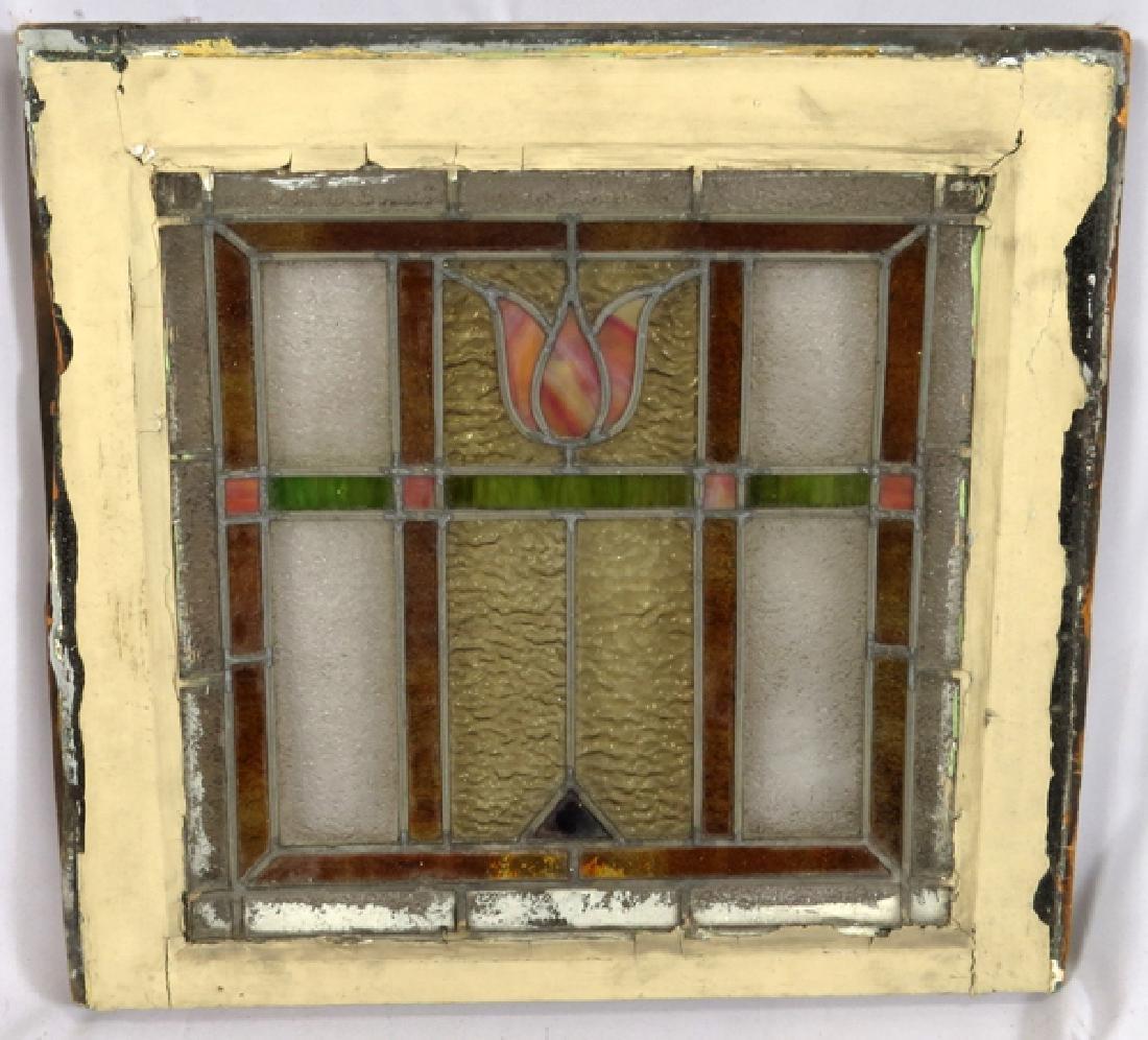 LEADED GLASS WINDOWS C 1910 LOT OF THREE 31 - 3