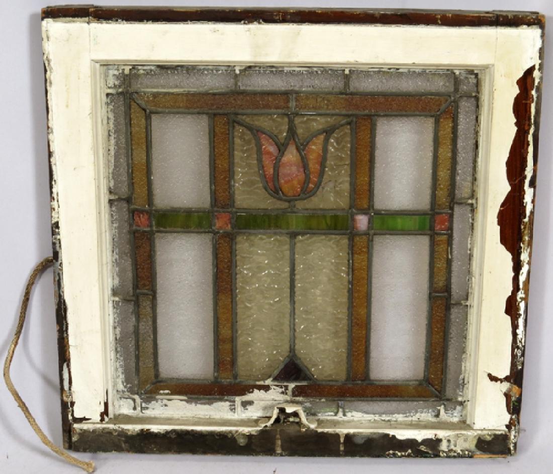 LEADED GLASS WINDOWS C 1910 LOT OF THREE 31 - 4