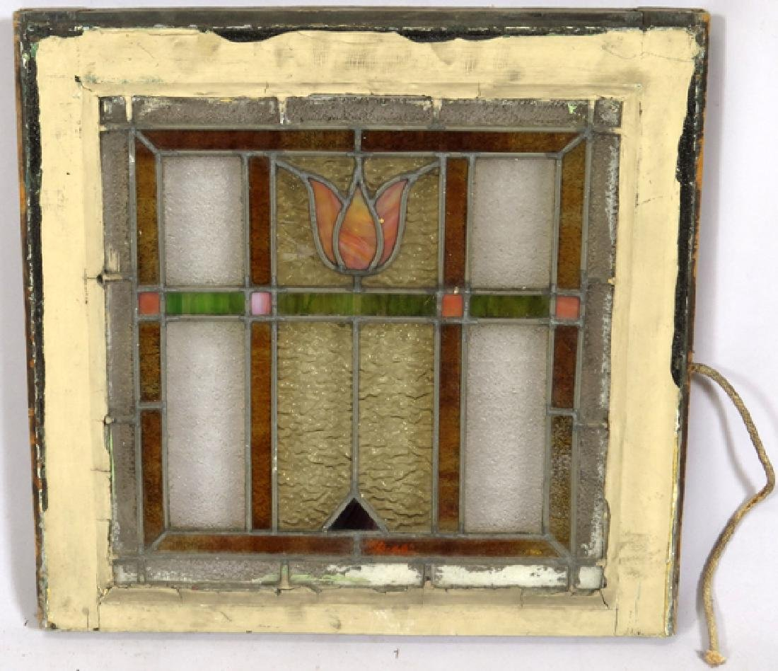 LEADED GLASS WINDOWS C 1910 LOT OF THREE 31 - 5
