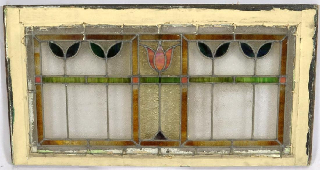 LEADED GLASS WINDOWS C 1910 LOT OF THREE 31 - 7