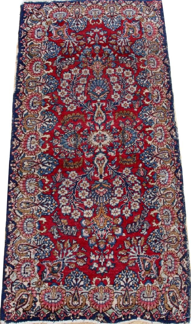 KERMAN PERSIAN WOOL MAT C 1920