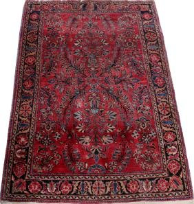SAROUK PERSIAN WOOL RUG 1940-60