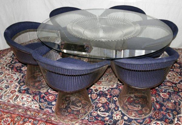080006: WARREN PLATNER KNOLL DINNING TABLE & CHAIRS