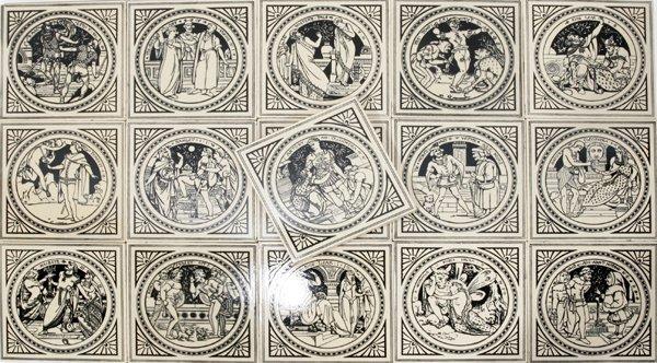 080012: ENGLISH MINTON TILES, VICTORIAN & SHAKESPEARE