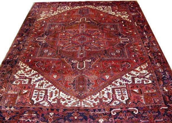 """080017: HERIZ, PERSIAN WOOL CARPET, 10' 2""""x13"""""""