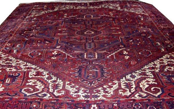 """080018: HERIZ, PERSIAN WOOL CARPET 10'x12' 10"""""""