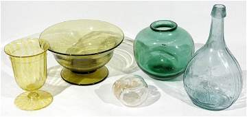 081289 HANDBLOWN GLASS GROUPING INCLUDING VENETIAN