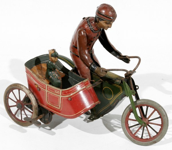 081339: LITHOGRAPHED TIN WIND-UP MOTORCYCLE