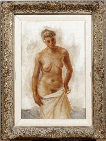 082005: SARKIS SARKISIAN OIL ON CANVAS, FEMALE NUDE