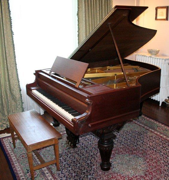 082016: CHICKERING & SONS MAHOGANY GRAND PIANO, 1895
