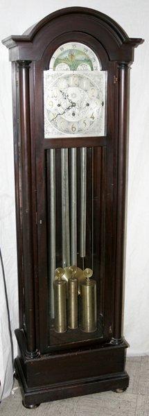 082019: VERNON HALL MAHOGANY GRANDFATHER CLOCK