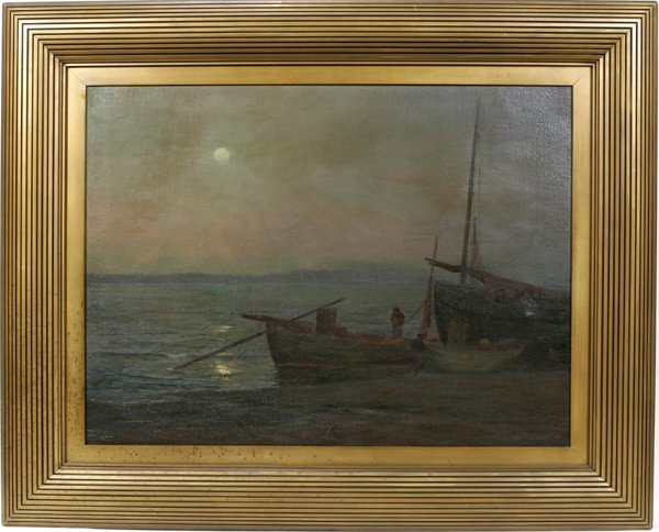 082089: C..J. DICKINSON OIL ON CANVAS, SEASCAPE