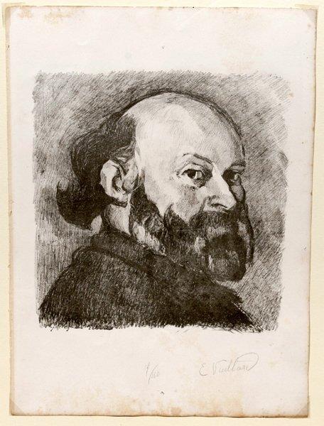 082367: E. VUILLARD, LITHOGRAPH, 'PORTRAIT OF A MAN'
