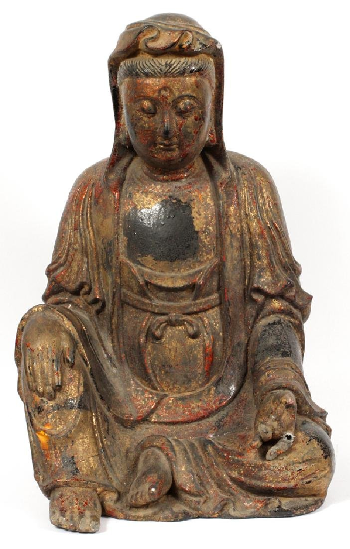 CHINESE COMPOSITION SEATED BUDDHA