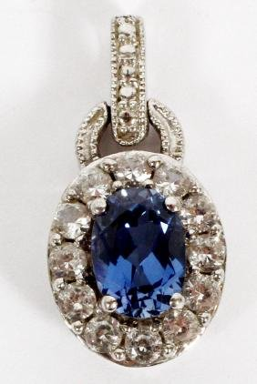Sapphire And Diamonds Pendant