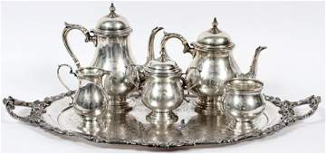 FRED HIRSCH  CO STERLING SILVER TEA  COFFEE SET